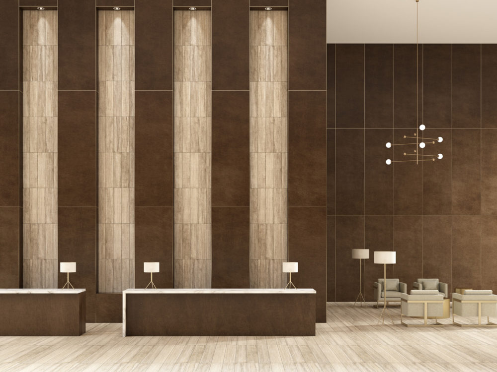 CGI Lobby Featuring Contemporary Tile