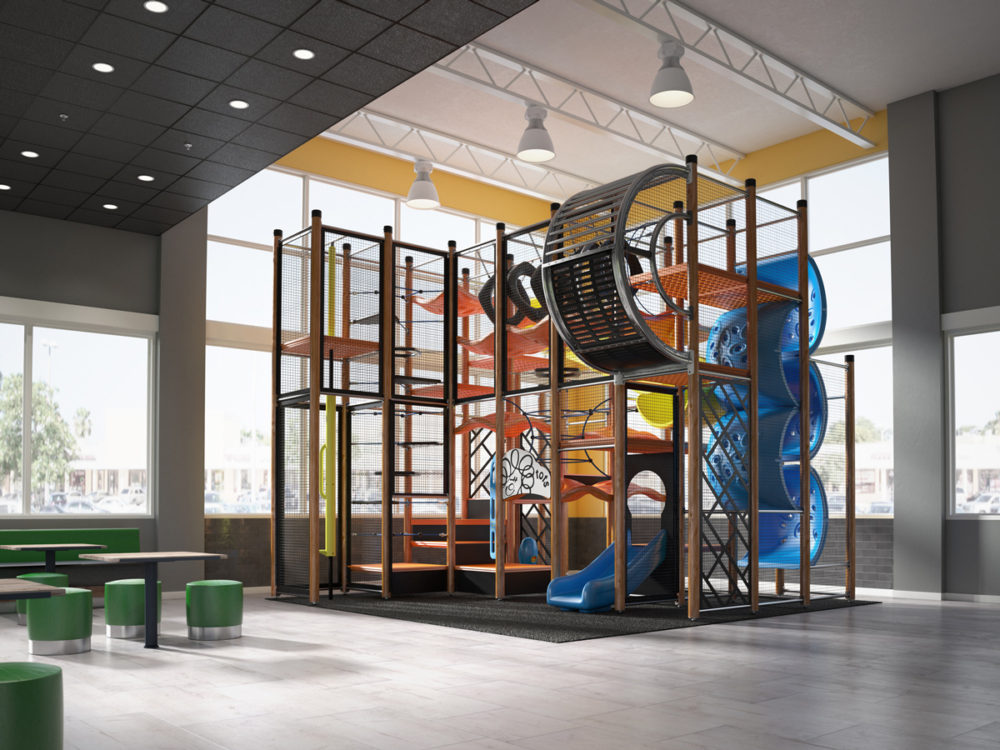 CGI Interior Commercial Play Set