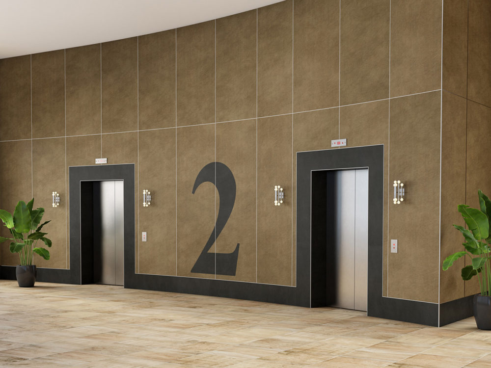 CGI Commercial Elevator Lobby TIle