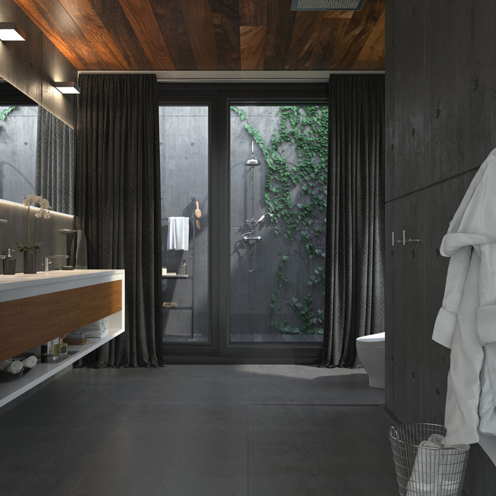 CGI Sleek Bathroom Slate Tile