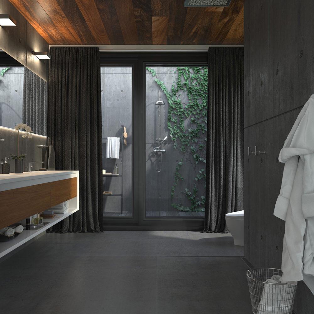 CGI Sleek Bathroom Slate Tile