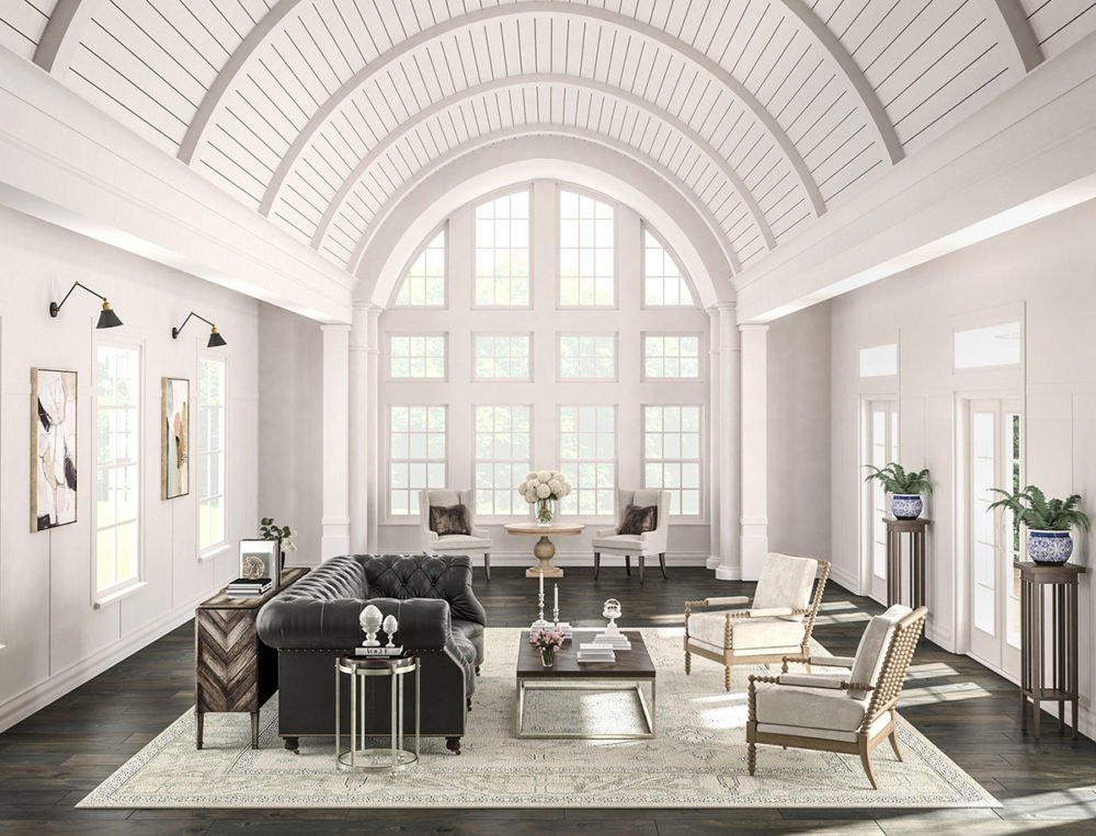 CGI Arched Ceiling Living Room