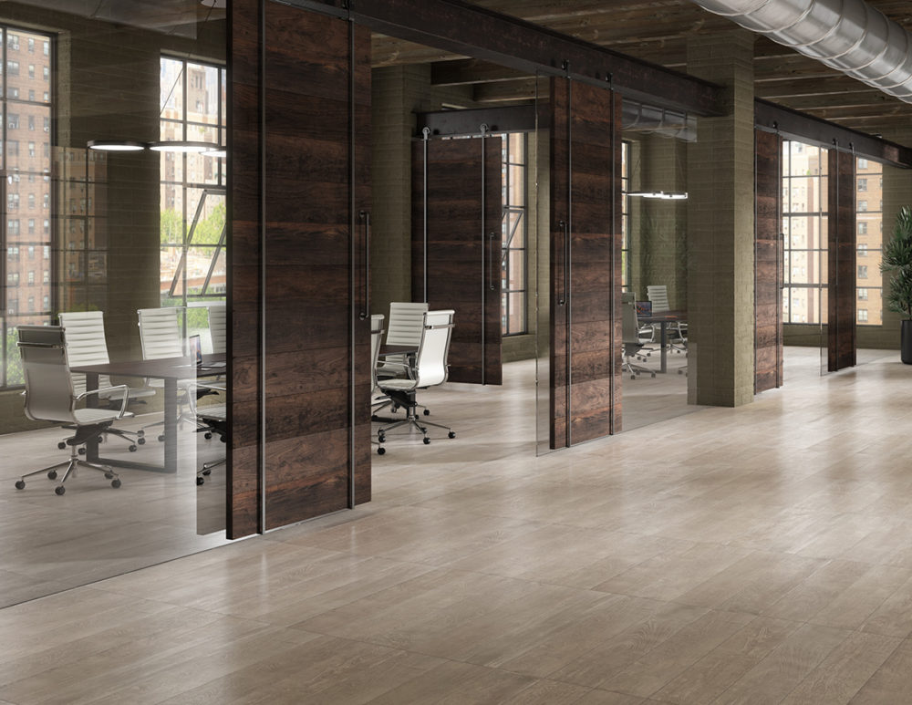 Modern Office Tile Floor CGI